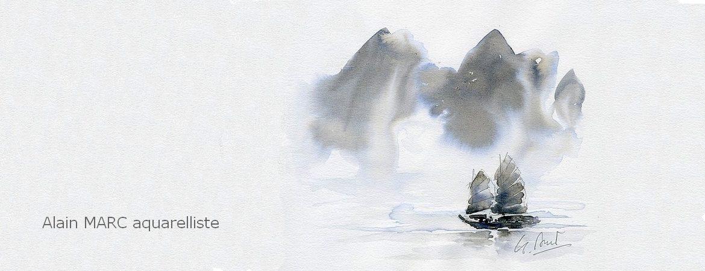 Aquarelle de voyage d'Alain MARC