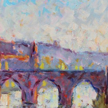 Albi, le Tarn et le Pont vieux peints par JEAN MARC