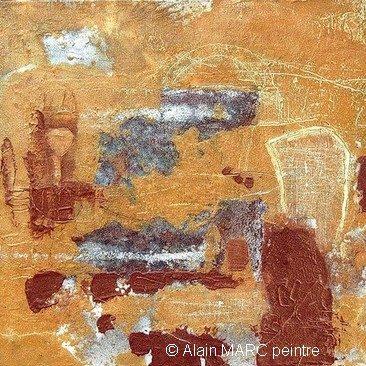 Acrylique sur toile, peinture Alain MARC