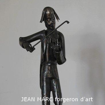 JEAN MARC Violoneux, sculpture sur fer